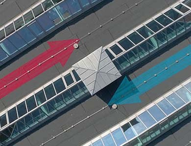 Luftaufnahmen Drohne Kamera Filmfluss Düsseldorf